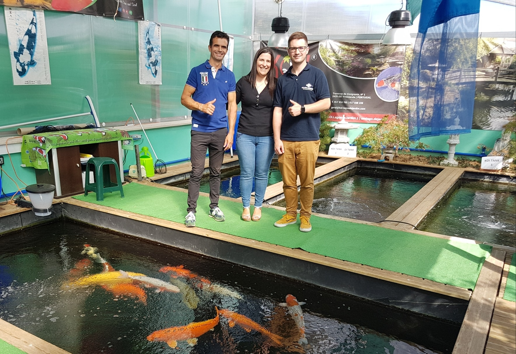 Visita da Aquatic Science à KOI
